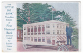 Bangor, Maine Postcard:  Traveling National Bank for Fairs