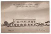 El Paso, Texas Postcard:  Del Camino Courts