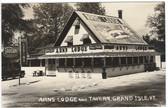 Grand Isle, Vermont Real Photo Postcard:  Arns Lodge & Tavern