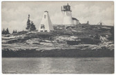 Boothbay Harbor, Maine Postcard: Burnt Island Lighthouse