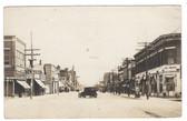 Lexington, Nebraska Real Photo Postcard:  Main Street