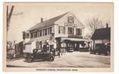 Bridgewater, Massachusetts Postcard:  Tinkham's Store & Gas Station