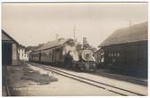 Bridgton, Maine Real Photo Postcard:  B & SR Narrow Gauge Train Station