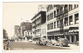 Spokane, Washington Real Photo Postcard:  Street Scene