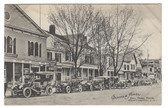 Huntington, Long Island, New York Postcard:  Suffolk Hotel & Old Cars