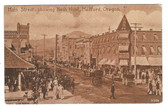 Medford, Oregon Postcard:  Main Street & Nash Hotel