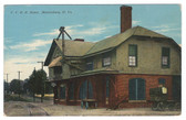 Martinsburg, West Virginia Vintage Postcard:  Railroad Station