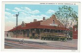 Barnesville, Georgia Vintage Postcard:  Railroad Station