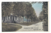 Bemus Point, New York Vintage Postcard:  Road to the Ferry