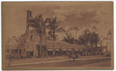 Coral Gables, Miami, Florida Vintage Postcard:  Golf & Country Club