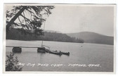 Jim Pond, Maine Real Photo Postcard:  Big Jim Pond Camp