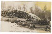 South Paris, Maine Real Photo Postcard:  Paris Mfg. Co. Lumber Yard