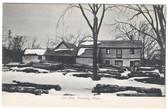Harding, Massachusetts Postcard:  Old Lumber Mill in Winter