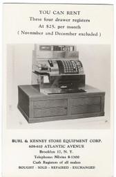 Brooklyn, New York Real Photo Postcard:  Cash Register Advertising