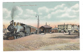 Oakland, Maine Vintage Postcard:  Train Station