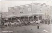 Cripple Creek, Colorado Postcard:  Palace Hotel & Horses