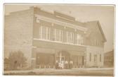 Lusk, Wyoming Real Photo Postcard:  Harmony Masonic Lodge
