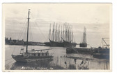 Boothbay Harbor, Maine Real Photo Postcards:  Schooners in Harbor