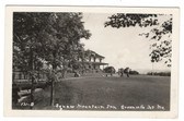 Greenville Jct., Maine Real Photo Postcard:  Golfers & Squaw Mountain Inn