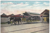 Block Island, Rhode Island Postcard:  Horse Trolley Car Leaving Beach