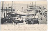 Block Island, Rhode Island Vintage Postcard:  Old Harbor