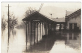 Plymouth, New Hampshire Real Photo Postcard:  Railroad Station Flood