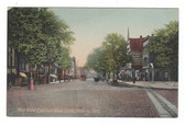 Danbury, Connecticut Postcard:  Main Street, East from White Street, & Trolley Car
