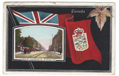 St. Thomas, Ontario, Canada Patriotic Postcard:  Talbot Street