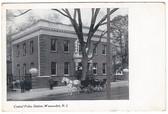 Woonsocket, Rhode Island Postcard:  Central Police Station