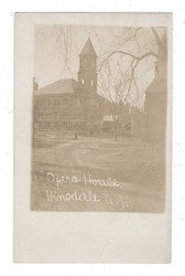 Hinsdale, New Hampshire Real Photo Postcard:  Opera House