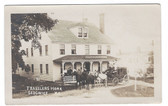 Sedgwick, Maine Real Photo Postcard:  Stage Coach in Front of Travelers Home