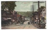 Derby, Connecticut Postcard:  Main Street & Trolley Car