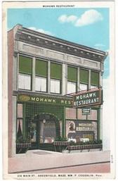 Greenfield, Massachusetts Postcard:  Mohawk Restaurant
