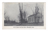Bloomfield, Connecticut Postcard:  M. E. Church and East Street