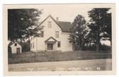 Abbot Village, Maine Real Photo Postcard:  High School