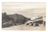 Mill Valley, California Real Photo Postcard:  Locust District & Ice Cream Shop