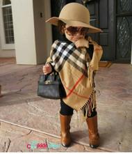 Modern Child Plaid Poncho Toddler & Girls