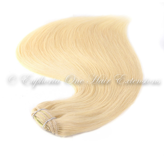 Indian Remy Cuticle Correct Clip In Hair Extensions 100g Thick Ends