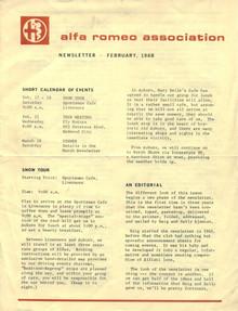 Overheard Cams May 1968