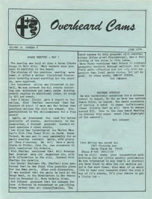 Overheard Cams August 1974