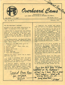 Overheard Cams February 1975