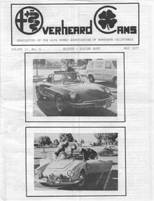 Overheard Cams May 1977