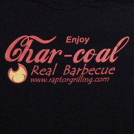 """Enjoy Charcoal - Real Barbecue"" t-shirt print"