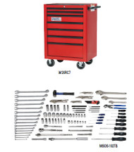 Williams 102 Pcs Oilfield Service Tool Set SAE With Storage MSOS-102TB