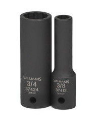 "3/8"" Williams 1/2"" Dr Deep Impact Socket 12 Pt - 37412"