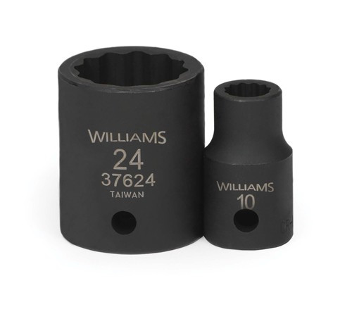 "10MM Williams 1/2"" Dr Shallow Impact Socket 12 Pt - 37610"