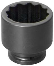 "2 3/16"" Williams 1 1/2"" Drive Standard Impact Socket - 12 Pt"