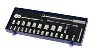 "10 - 34MM Williams 1/2"" Dr Shallow Socket & Tool Set 12 Pt 29 Pcs - MSS-29F"