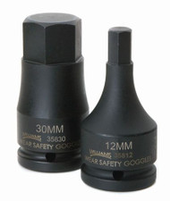 "30MM Williams 3/4"" Drive Impact Hex Bit Driver"