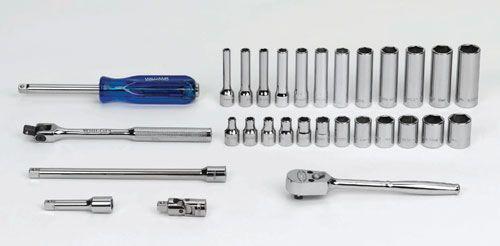 "4 - 14MM Williams 1/4"" Dr Shallow & Deep Socket & Tool Set 6 Pt 30 Pcs & Tool Box - MSM-30HFTB"